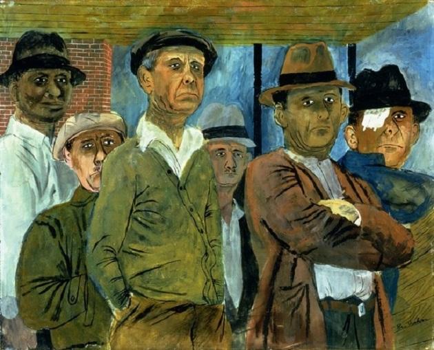 Картина американского художника Бена Шана (Ben Shahn) под названием Безработные