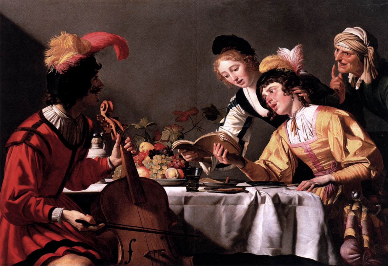 Геррит ван Хонтхорст «Концерт», около 1626-1630