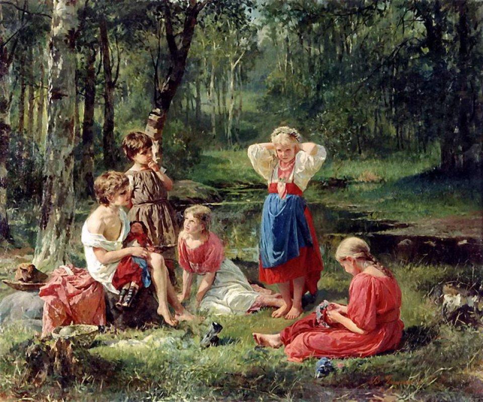 Василий Голынский Дети в лесу