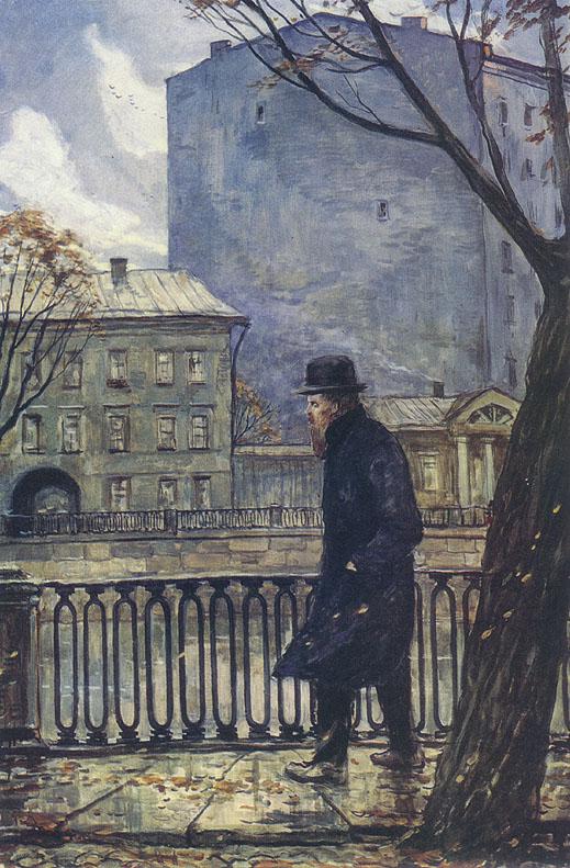 Илья Глазунов Ф.М. Достоевский в Петербурге. Осень