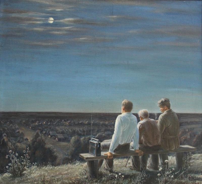 Измаил Ефимов Ночь в деревне Березово, 1977