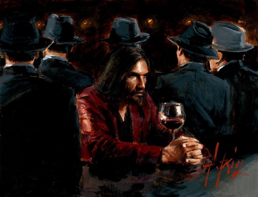 fabian perez man at the bar