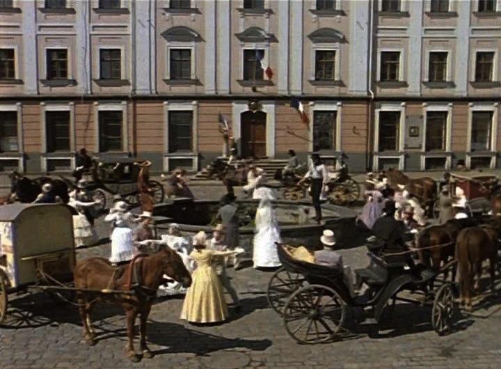 Кадр из фильма «Соломенная шляпка» 1974