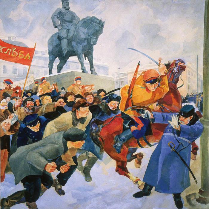 Рудольф Френц «На Знаменской площади в Февральские дни 1917 года» (1917)