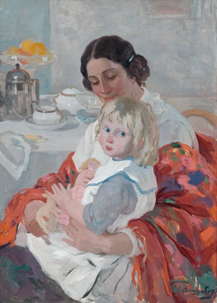 Иван Горошкин-Скоропудов Мать с ребенком
