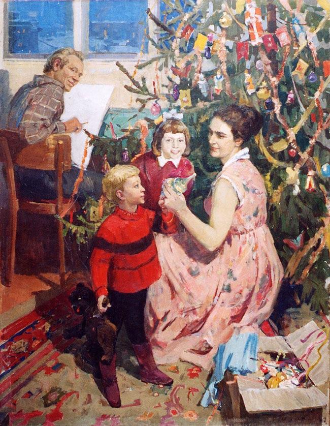 Картина художника Александра Гуляева Новый год
