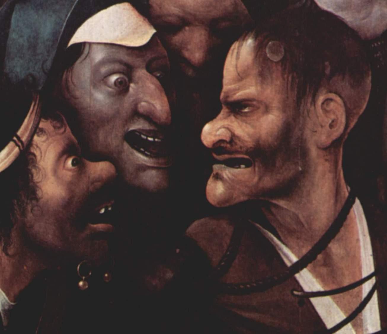 Иероним Босх. Фрагмент картины Несение креста, 1490-1500