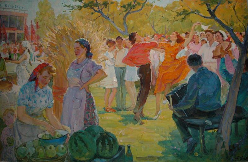 Тамара Хитрова «Праздник урожая» 1960-е