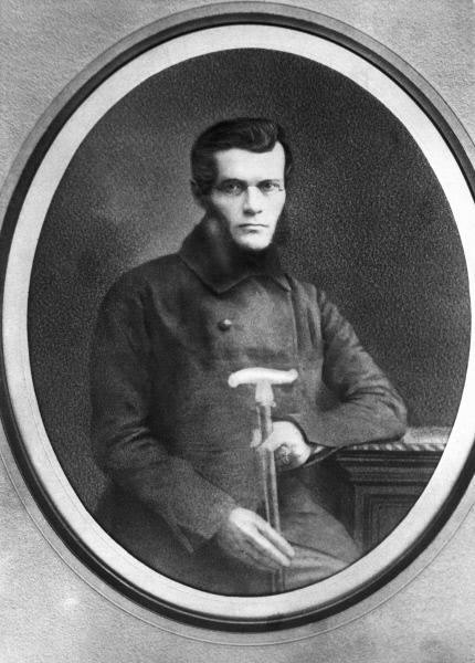 Иван Киреевский Фотография с утраченного дегеротипа Пейшеса 1853 год Репродукция в 1962 году В.Черединцева