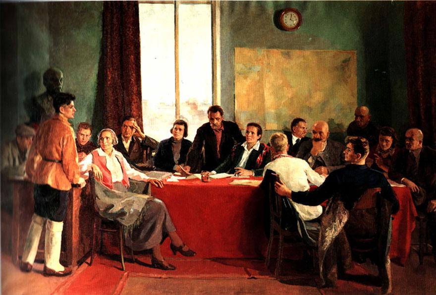 Георгий Лукомский Заседание заводского парткома, 1937