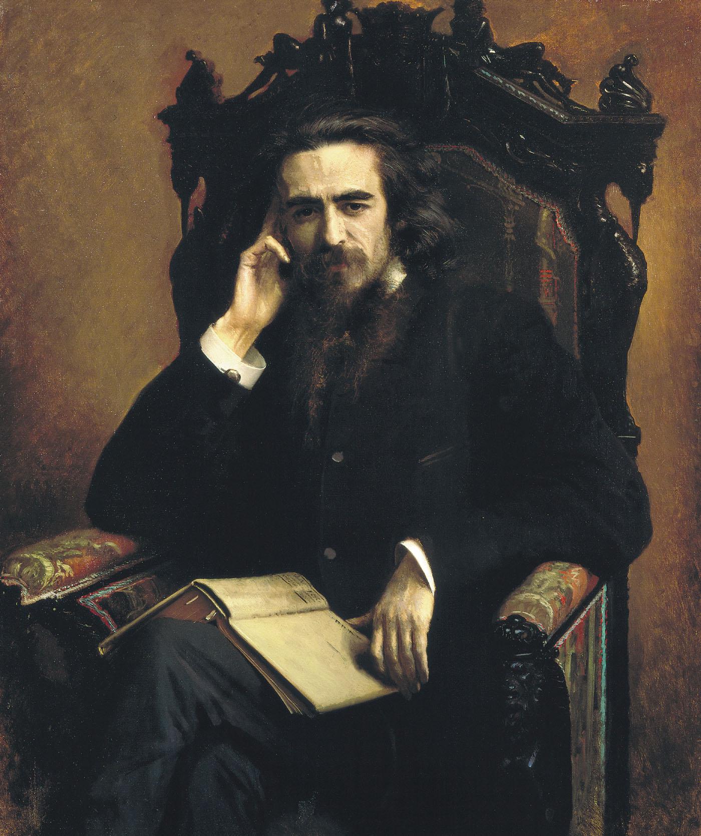 Работа художника Ивана Крамского портрет философа Владимира Соловьева
