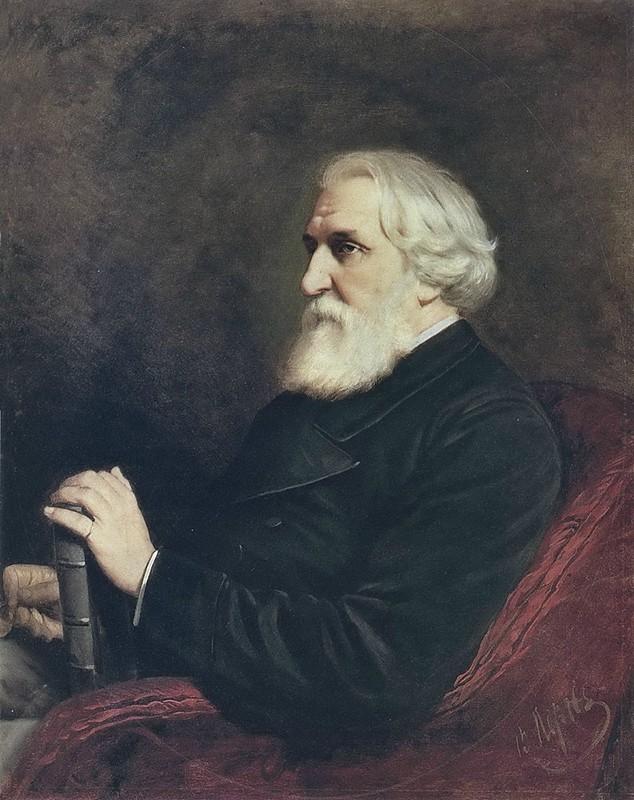 Портрет Тургенева работы Перова
