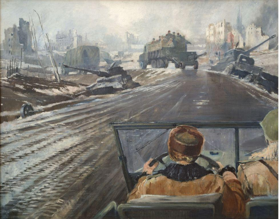 Картина художника Юрия Пименова Фронтовая дорога