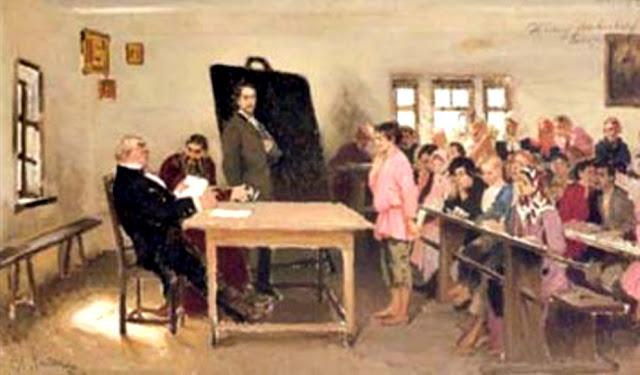 Илья Репин Экзамен в сельской школе.1878