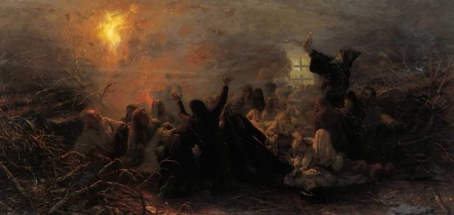 Григорий Мясоедов Самосожигатели, 1884