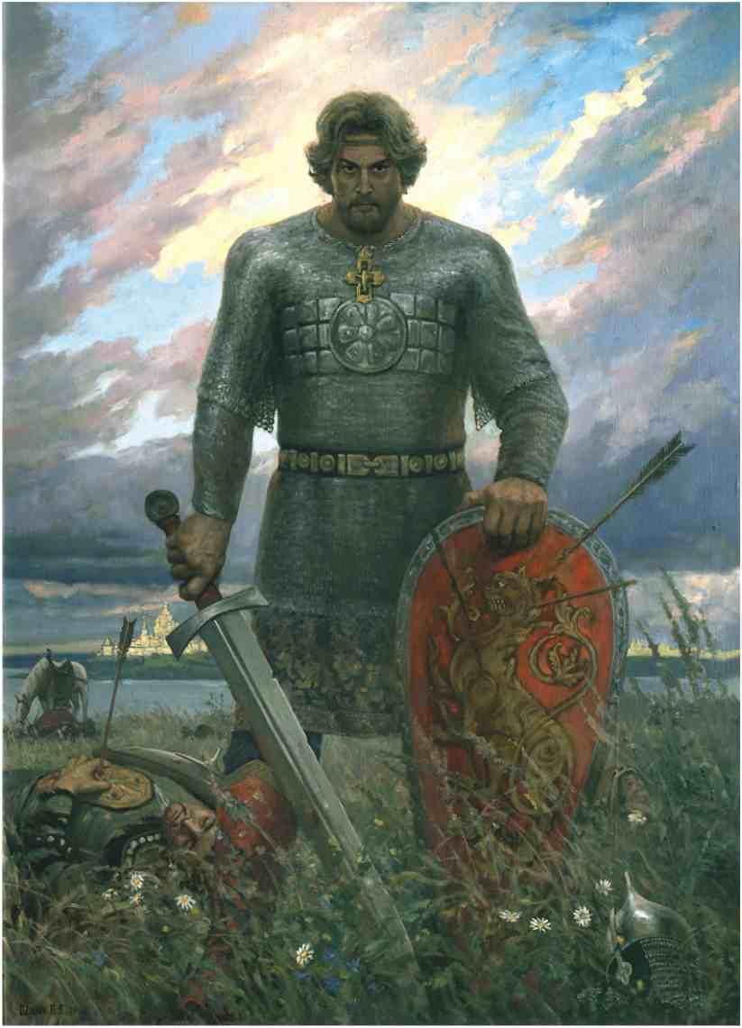 Картина художника Виктора Викторовича Шилова, Название И один в поле воин