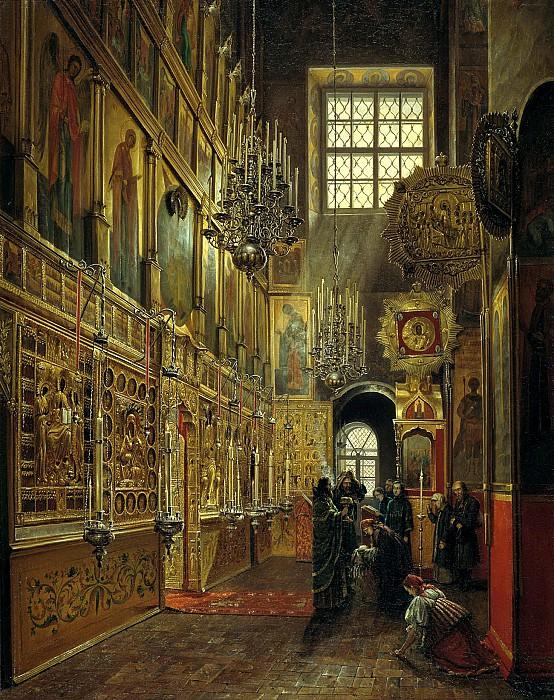 ШУХВОСТОВ Степан - Внутренний вид Алексеевской церкви Чудова монастыря в Московском Кремле