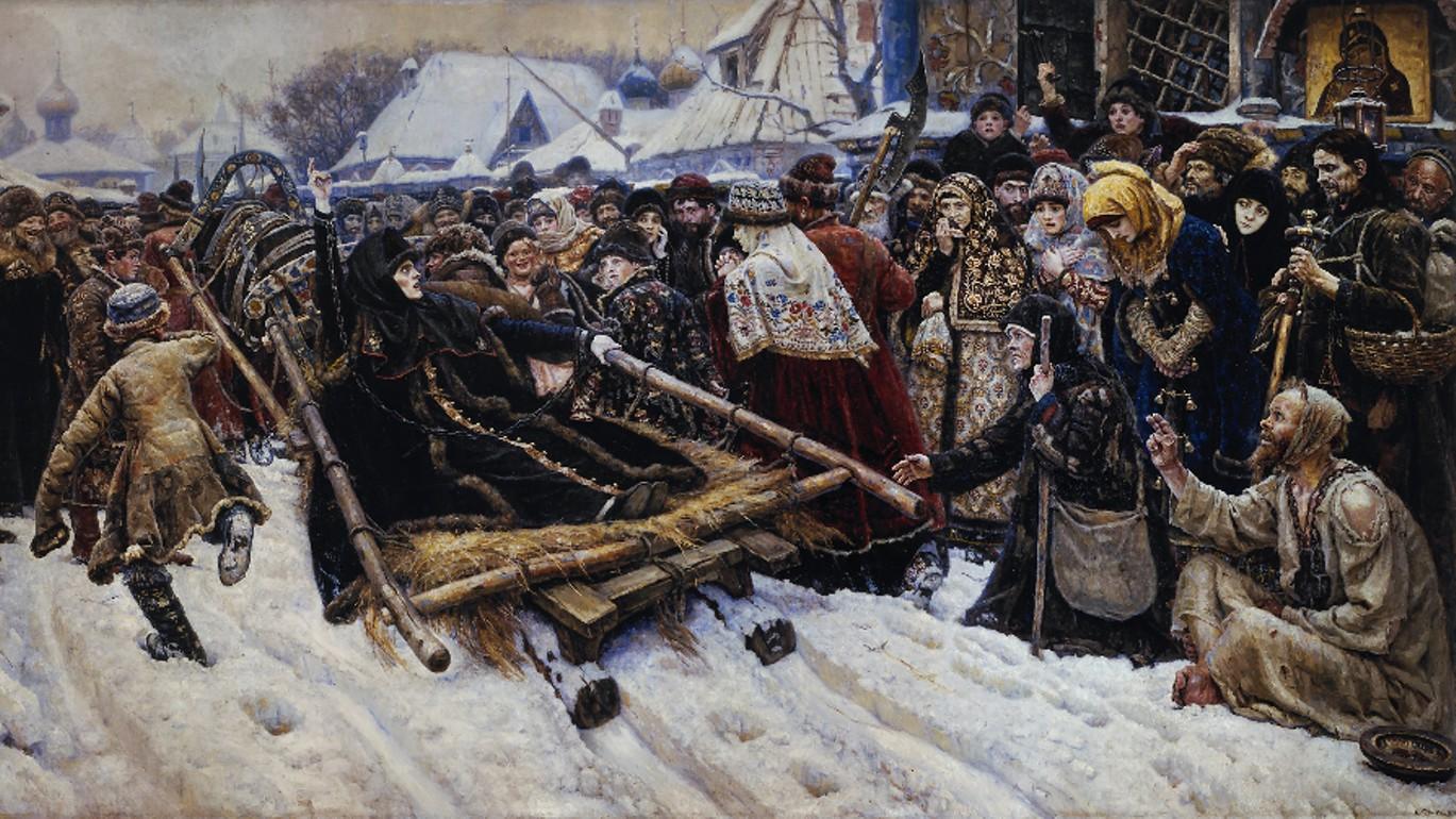 Василий Суриков Боярыня Морозова, 1887