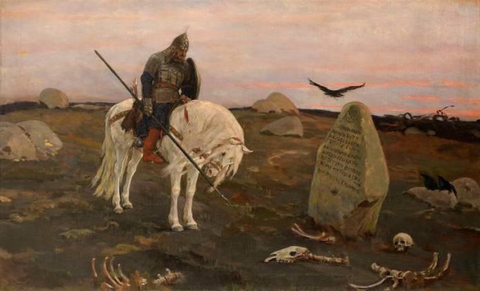 Картина художника Виктора Васнецова Витязь на распутье