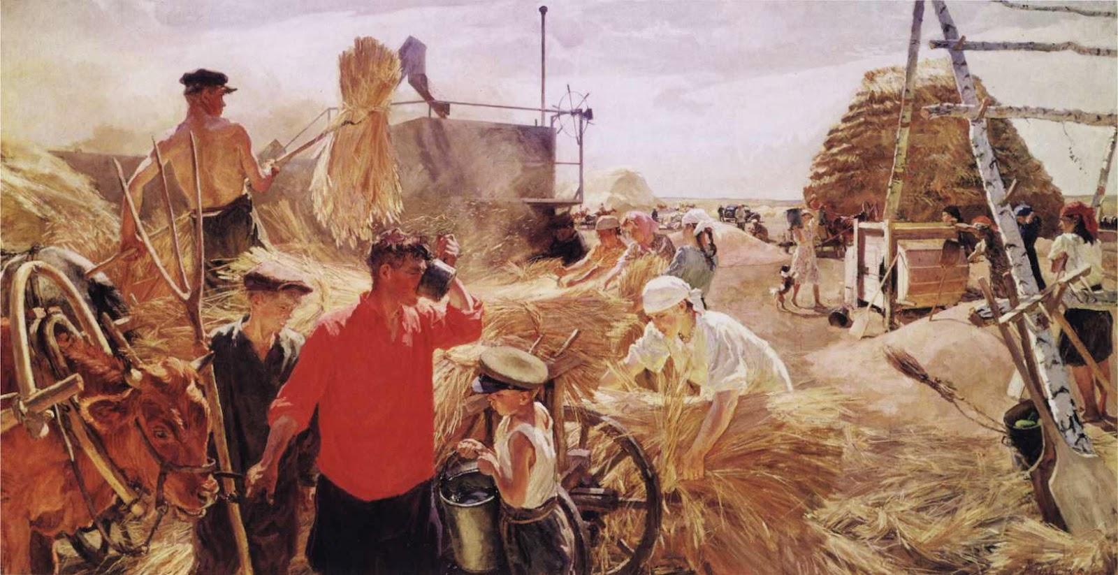 Аркадий Пластов На колхозном току, 1949