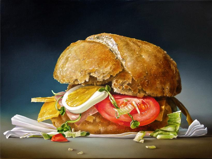Тьялф Спарнэей Сэндвич с яйцом и помидорами