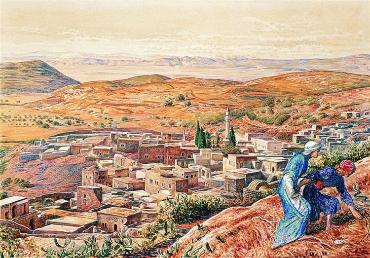 distant view of Nazareth 1861