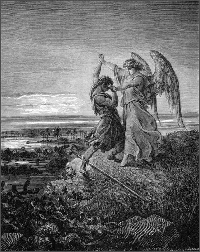 Гюстав Доре Борьба Иакова с Ангелом