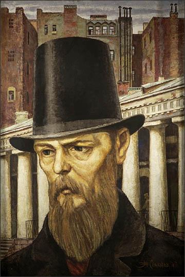 Владимир Семенов. Ф.М.Достоевский - портрет на фоне города, 1971