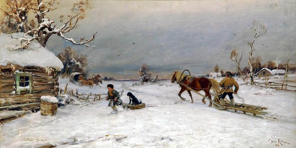 Ю.Ю. Клевер «Евгений Онегин». Зима