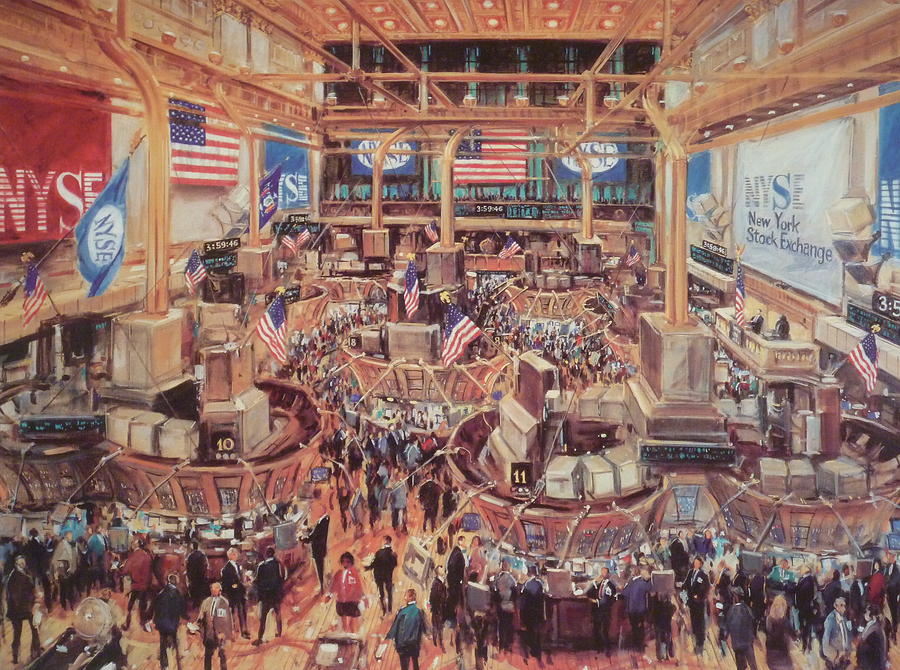 Камиль Кубик Торговый зал Нью-Йоркской фондовой биржи
