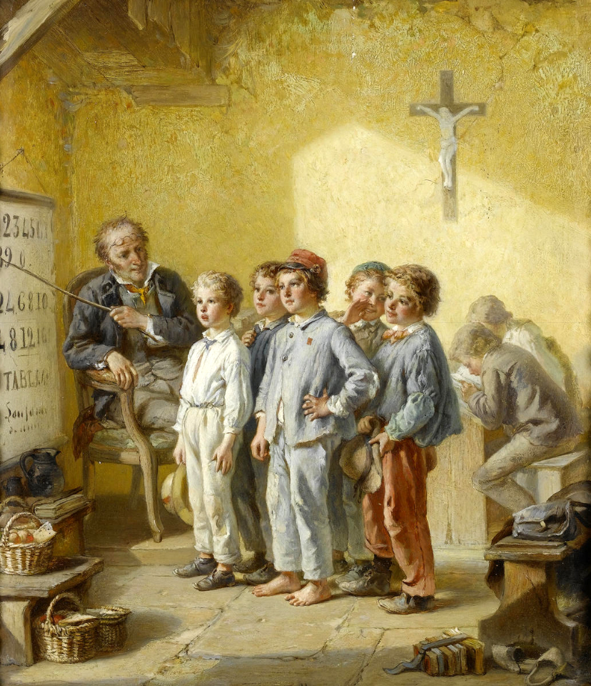 Ланфан де Метц ( 1814-1892) Урок математики