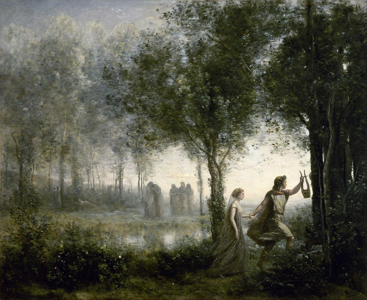 Камиль Коро - Орфей, ведущий Эвридику из царства теней (англ - Orpheus Leading Eurydice from the Underworld),1861