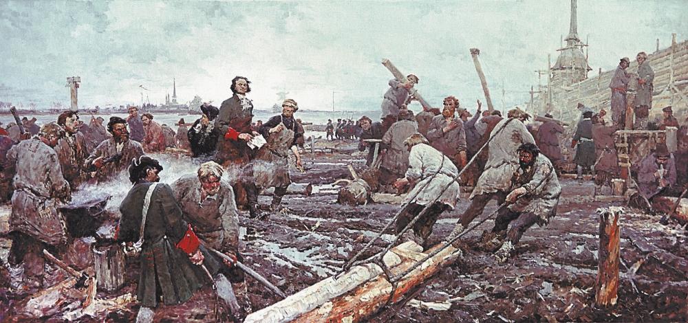 Григорий Песис «Петр I на строительстве Санкт-Петербурга»