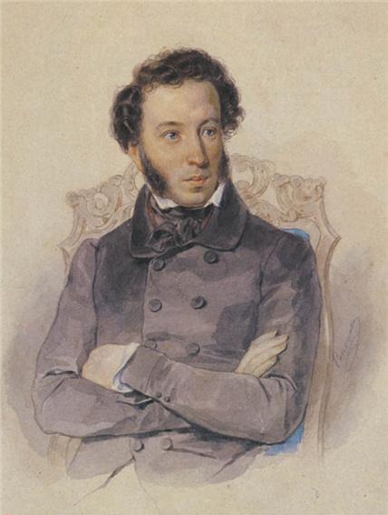 Петр Соколов Портрет А.С. Пушкина, 1836