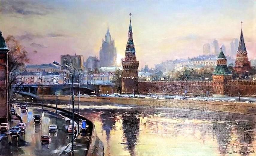 Олег Лодынин Рассвет на Москве-реке