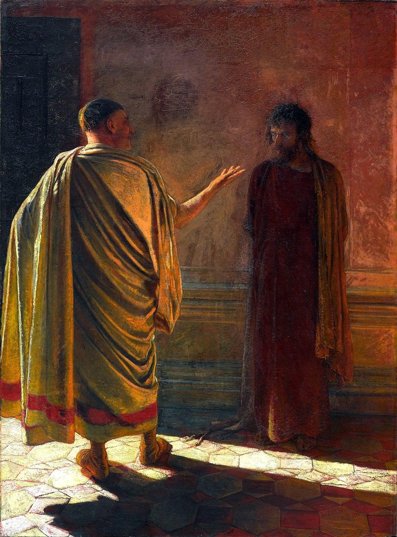 Н. Ге «Что есть истина? Христос и Пилат»