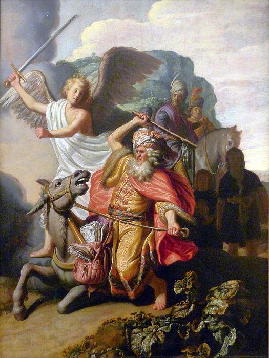 Рембрандт Пророк Валаам и ослица