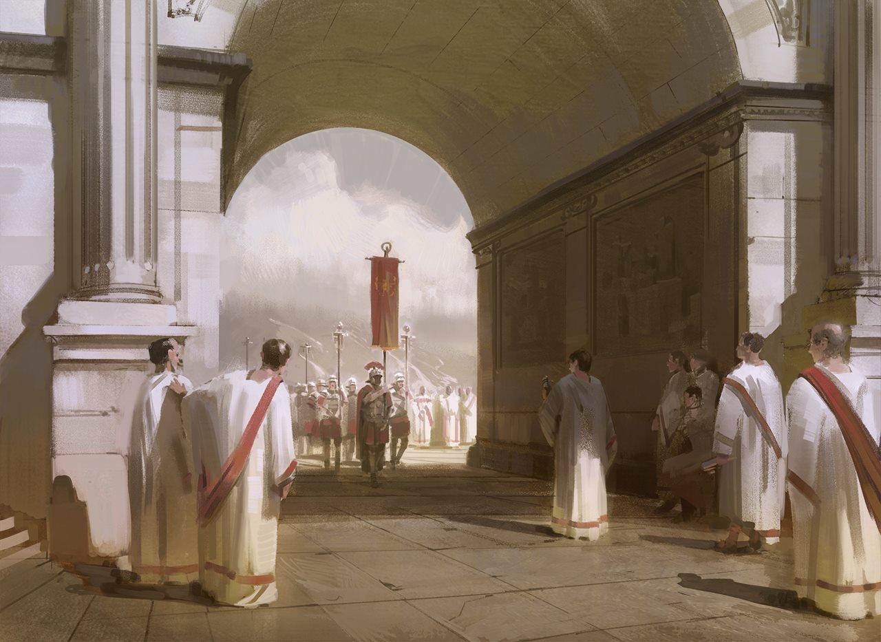 Nick Gindraux. Roman entrance