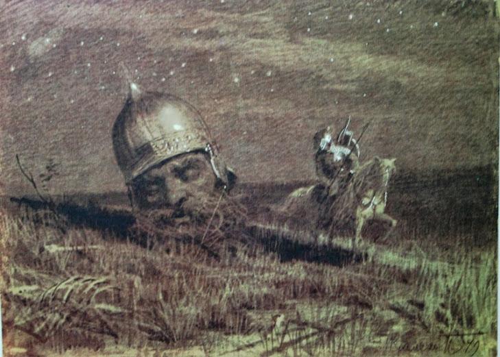 И.Н. Крамской Руслан и Голова. Иллюстрация к поэме А.С. Пушкина «Руслан и Людмила»