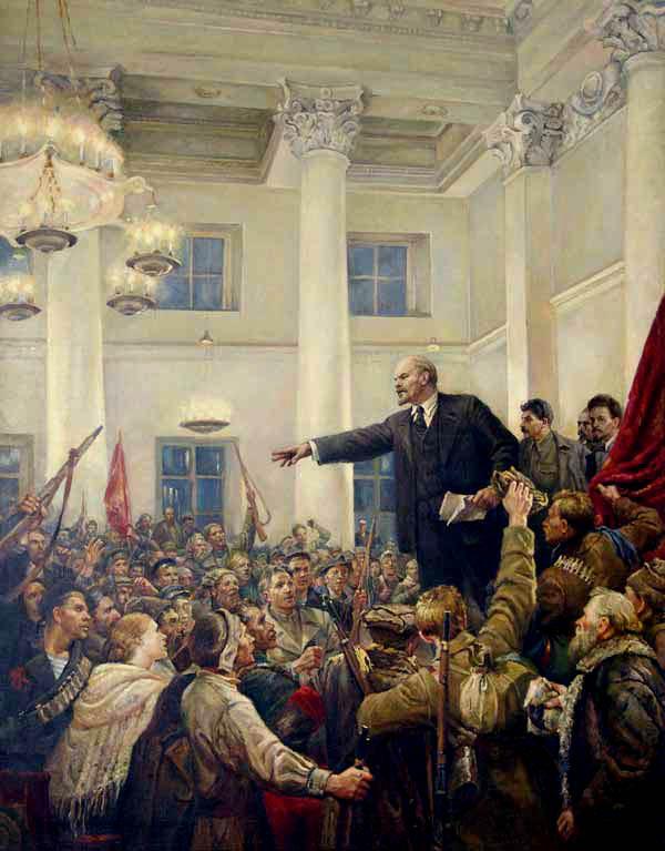 Владимир Серов Ленин провозглашает Советскую власть