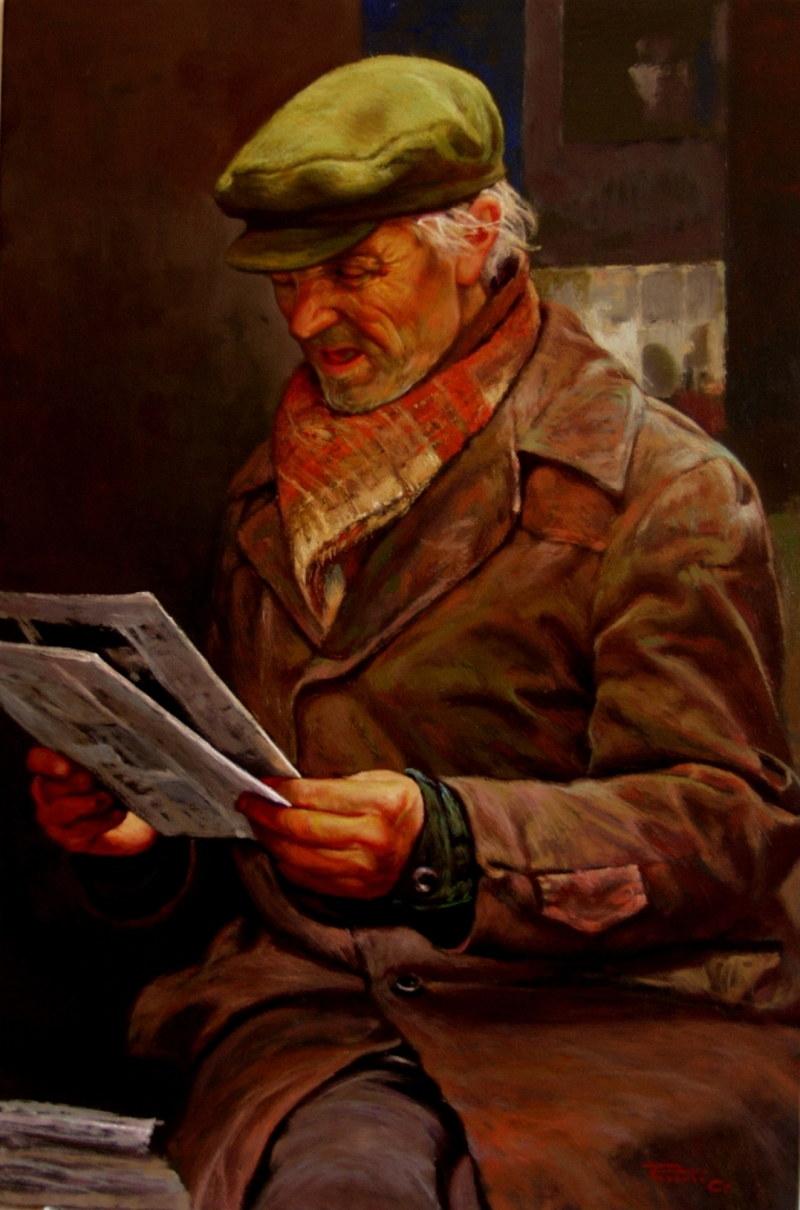 Джованни Парлато Старик с газетой