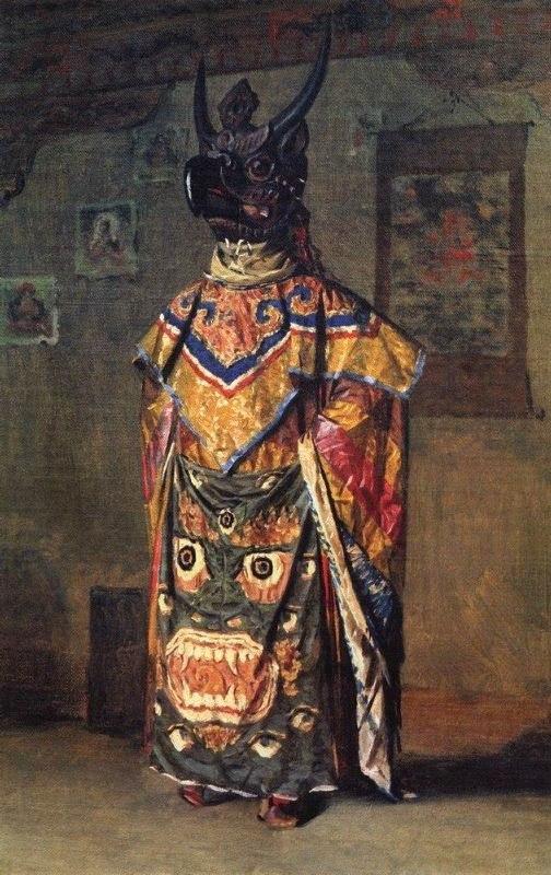 Василий Верещагин «Буддийский лама на празднике в монастыре Пемиончи. Сикким»