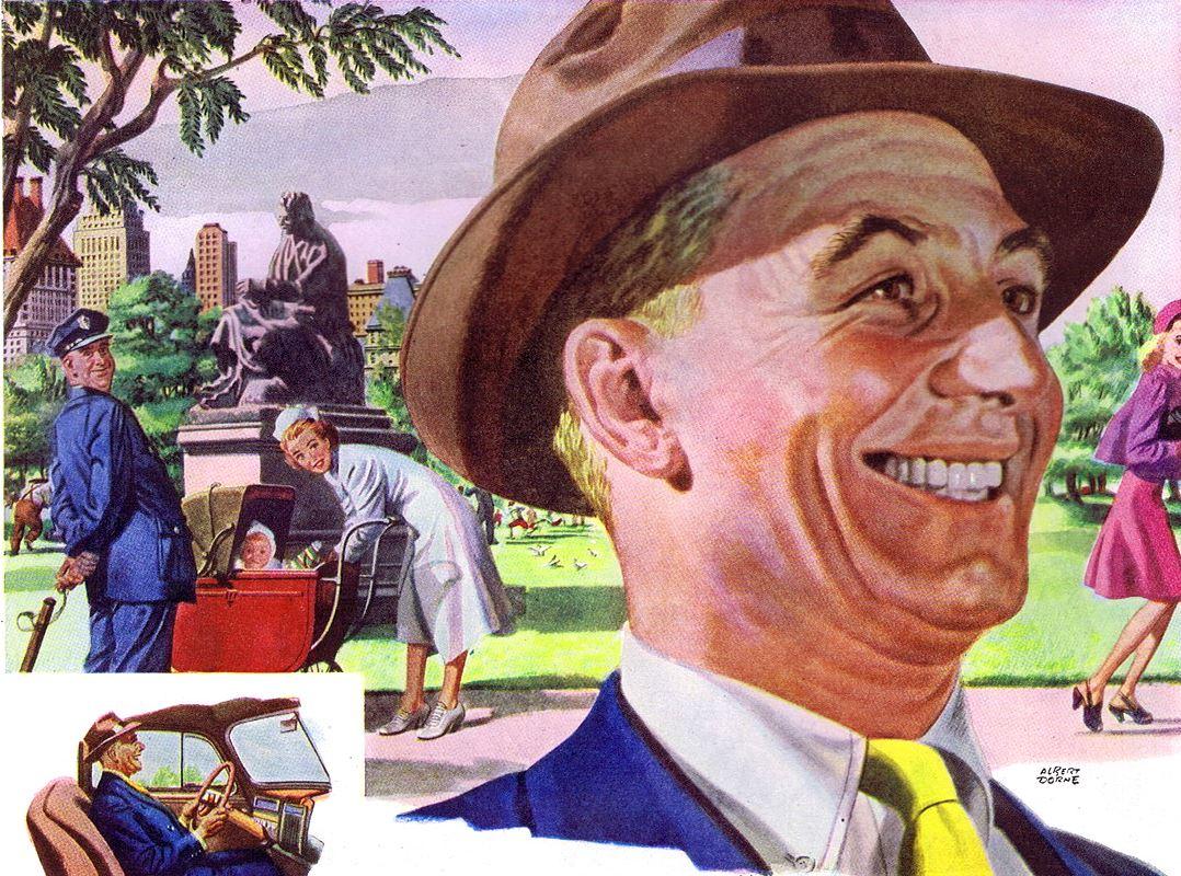 Альберт Дорн - Реклама из The Saturday Evening Post от 22 июня 1946