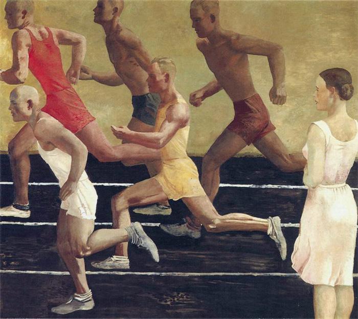 Александр Дейнека. Бегуны, 1934