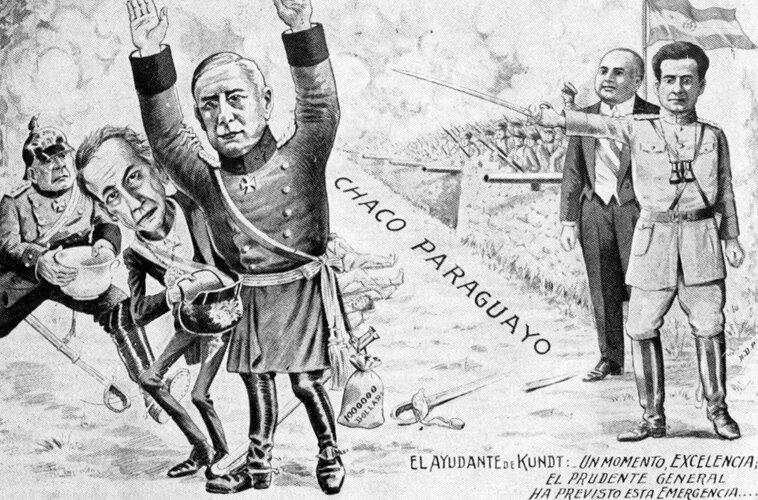 Парагвайская карикатура времен Чакской войны