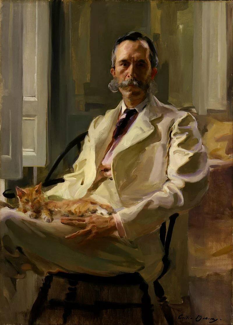 Сесилия Бо - Человек с кошкой, 1898