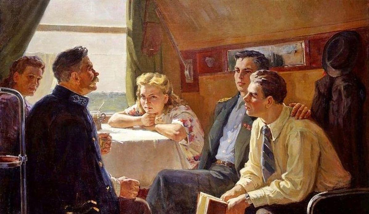 Одайник-Самойленко Зоя Александровна (1924-2002)- Разговор в купе поезда