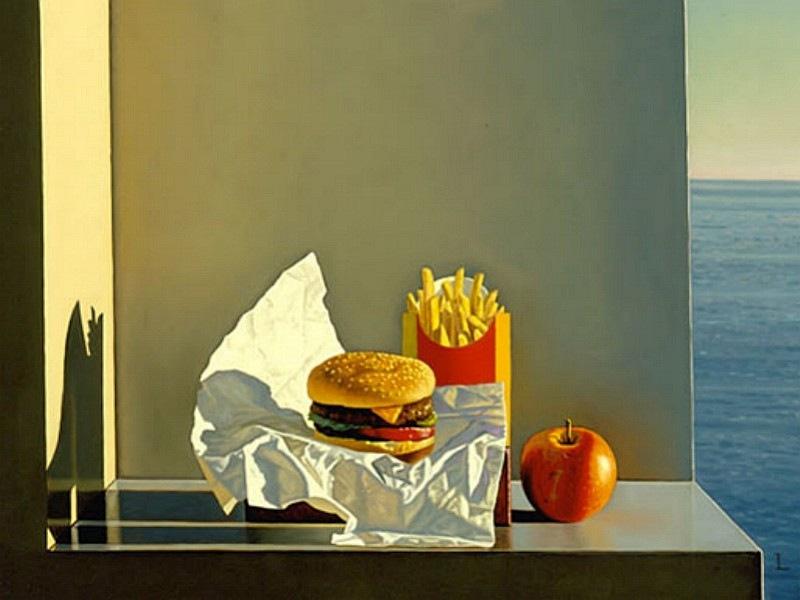 Дэвилд Лигар - Стиль жизни с бургерами, картофелем фри и яблоком, 2001