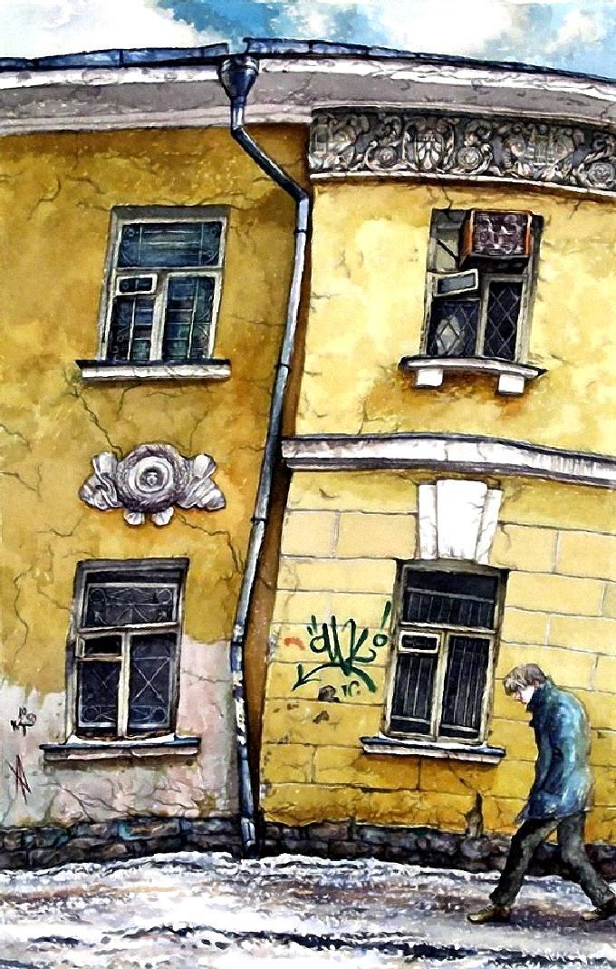 Алёна Дергилёва. Четыре окна в Сверчковом переулке, 2004