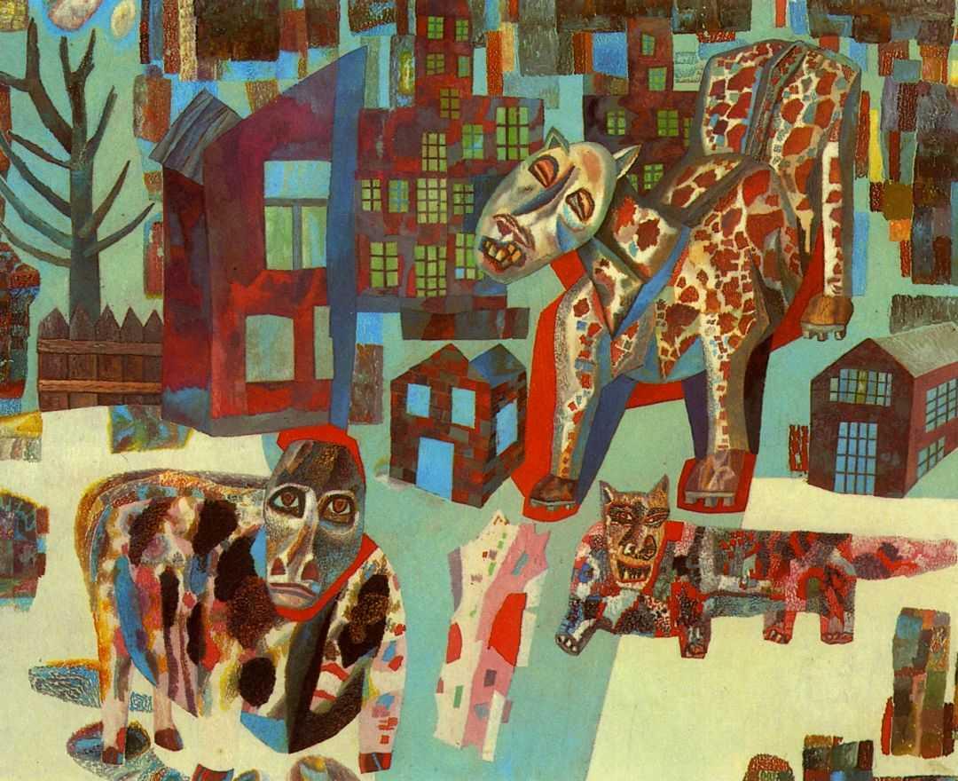 Павел Филонов - Животные, 1925-1926